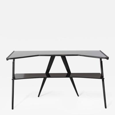 Ico Parisi Italian Modern Black Lacquer Console Table