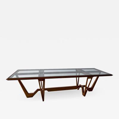 Ico Parisi Italian Modern Wood Glass Coffee Table