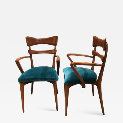 Ico Parisi Italian Pair of Very Rare Ico Parisi Armchairs 1950s