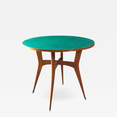 Ico Parisi Italian Round Game Table Attributed to Ico Parisi