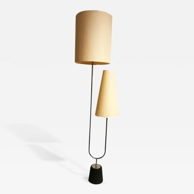Ico Parisi Mid Century Chromed Steel Two Arm Floor Lamp in the style of Ico Parisi