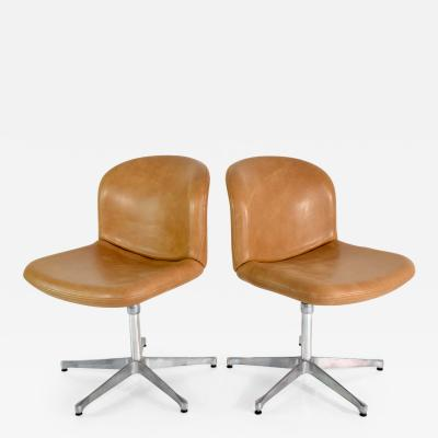 Ico Parisi Mid Century Leather Office Chair by Ico Parisi