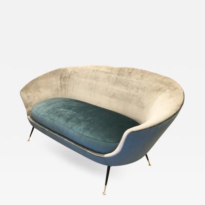Ico Parisi Mid Century Loveseat in the Manner of Ico Parisi