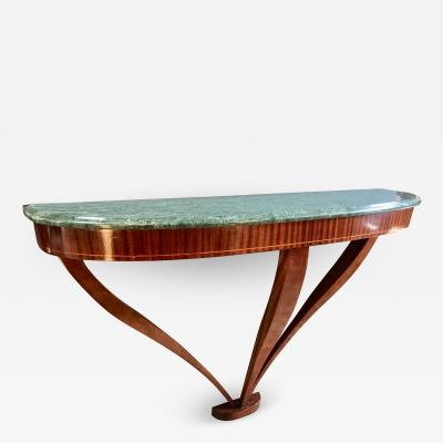 Ico Parisi Midcentury Ico Parisi Console Rosewood and Marble Top Milan Italy