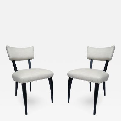 Ico Parisi Pair Italian Side Chairs in the Manner of Ico Parisi