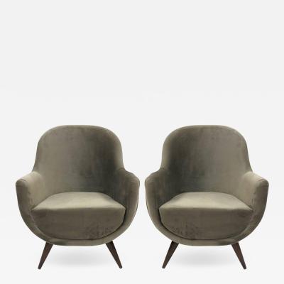Ico Parisi Pair of Gray Mid Century Modern Italian Style