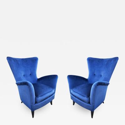 Ico Parisi Pair of Italian Mid Century Armchairs in the Manner of Ico Parisi