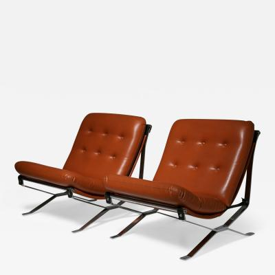 Ico Parisi Pair of Lotus Lounge Chairs by Ico Parisi for MIM