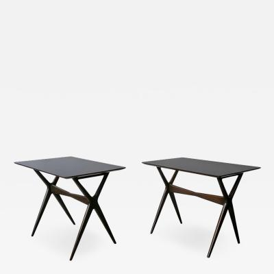Ico Parisi Pair of Sculptural Side Tables after Ico Parisi 1950s