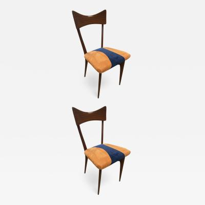 Ico Parisi Pair of Two Ico Parisi Dining Chairs for Ariberto Colombo 1950