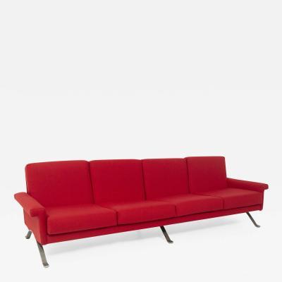 Ico Parisi Rare Italian Red Sofa by Ico Parisi for Cassina Mod 875 Published
