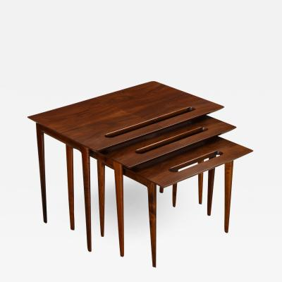 Ico Parisi Rare Nest of Tables by Ico Parisi for M Singer Sons