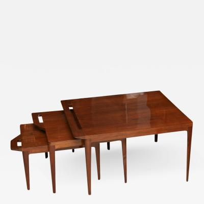 Ico Parisi Rare Set of Ico Parisi Nesting Tables Italy