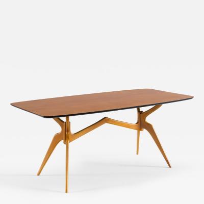 Ico Parisi Sculptural Blonde Dining Table attr Ico Parisi 1950