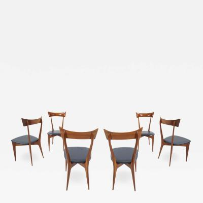 Ico Parisi Set of 6 Ico Parisi Dining Chairs