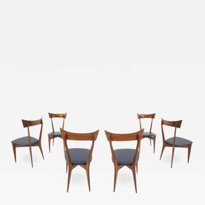 Ico Parisi Set of 6 Ico Parisi Dining Chairs
