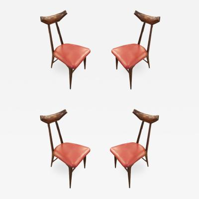 Ico Parisi Set of Four Chairs in the Manner of Ico Parisi