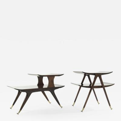 Ico Parisi Set of Sculptural Side Tables Inspired by Ico Parisi