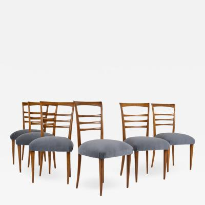 Ico Parisi Set of Six Ico Parisi Style Italian Dining Chairs