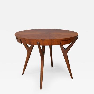 Ico Parisi Table Midcentury attribuite Ico Parisi in mahogany and veneer with drawers 1950