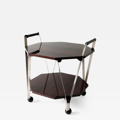 Ico Parisi Trolley Table in Rosewood with Metal Structure