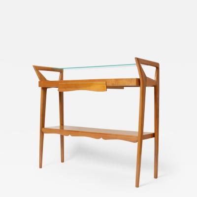Ico Parisi Walnut Console Table in the Manner of Ico Parisi c 1955