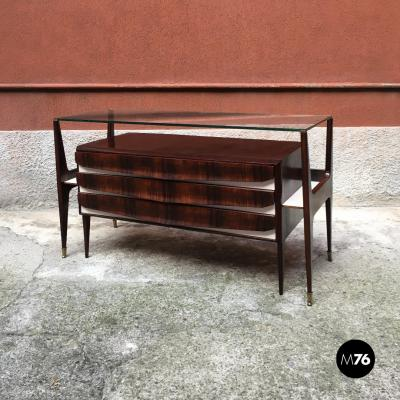 Ico Parisi Wooden sideboard with drawers in style of Ico Parisi 1950s