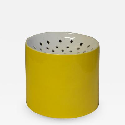 Ico Parisi Yellow vase by Ico and Luisa Parisi for Zanolli Sebellin