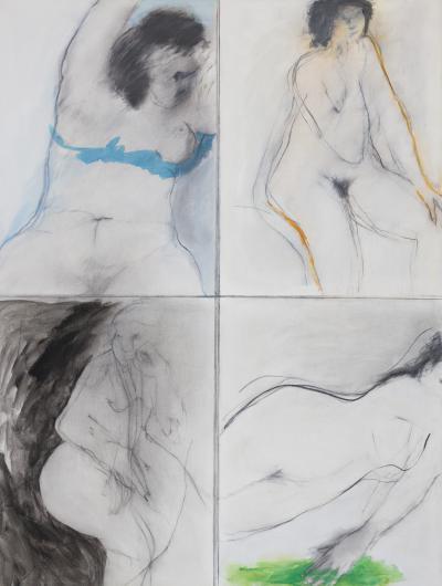 Ida Rittenberg Kohlmeyer Four Nudes Study