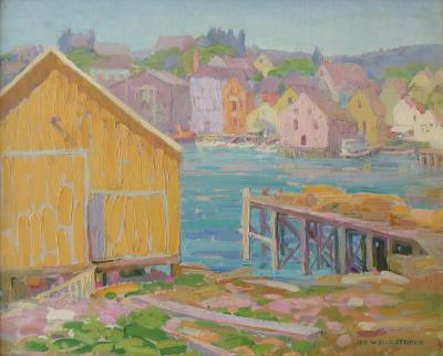 Ida Wells Stroud Harbor Scene