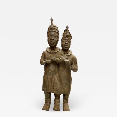Ife Benin Royal Cyple in Bronze 19th century
