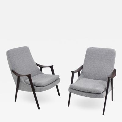 Igmar Relling Paor of Scanidinavian Modern Armchairs Designed by Igmar Relling