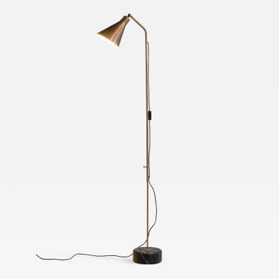 Ignazio Gardella Brass height adjustable Floor Lamp by Ignazio Gardella for Azucena