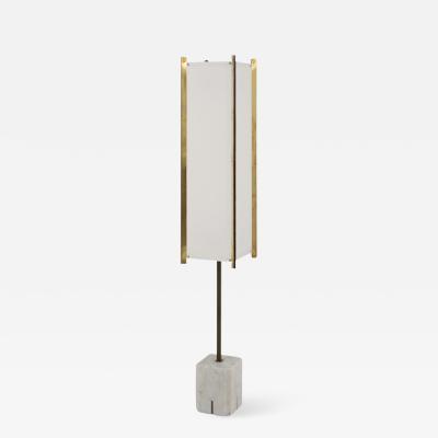 Ignazio Gardella Gardella Floor Lamp with White Marmer Base