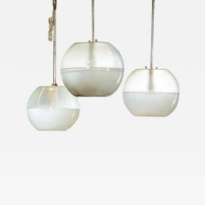 Ignazio Gardella Ignacio Gardella Glass Globe Hanging Fixtures