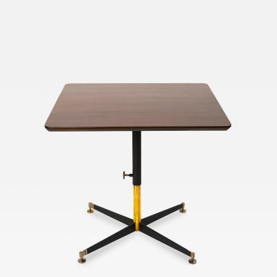 Ignazio Gardella Ignazio Gardella T5 Adjustable Height Cocktail or Game Table in Cherry