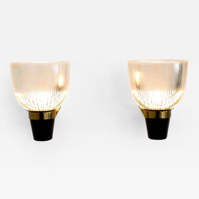 Ignazio Gardella Italian Designer and Architect Ignazio Gardella Pair of LP5 Sconces for Azucena