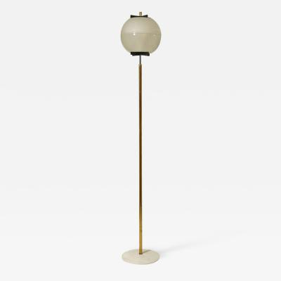 Ignazio Gardella MIDCENTURY GLOBE SHADE WITH BRASS AND MARBLE FLOOR LAMP BY LTE8 IGNAZIO GARDELLA