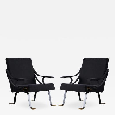 Ignazio Gardella Pair of Digamma Lounge Chairs
