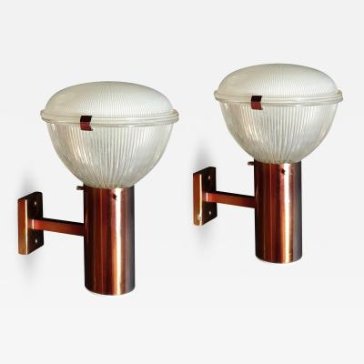 Ignazio Gardella Pair of Mid Century Modern Sconces by Ignazio Gardella for Azucena 1960s