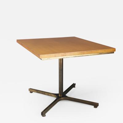 Ignazio Gardella Rare Table MidCentury attributed to Ignazio Gardella in brass and wood 1950s