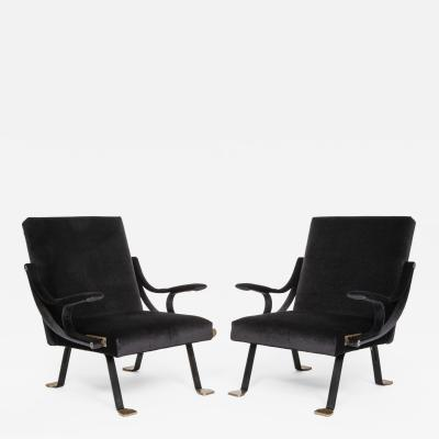 Ignazio Gardella Rare pair of original Digamma chairs