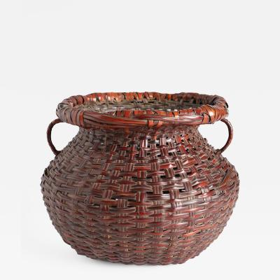 Iizuka Hosai II Flower Basket with Side Handles