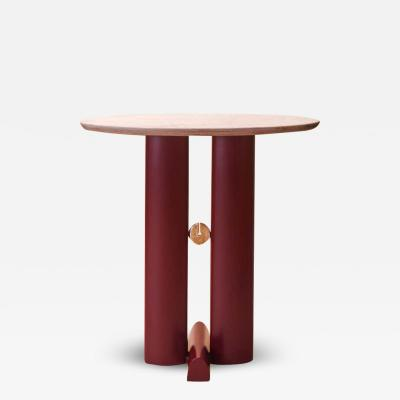 Ilaria Bianchi Bronze and Quartzite Alcova Side Table Ilaria Bianchi