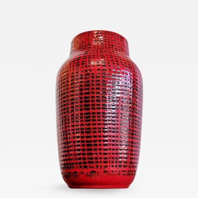Ilkra Edel Keramik LARGE RED AND BLACK ILKRA EDEL KERAMIK BOUQUET VASE Nr 347 30