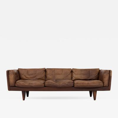 Illum Wikkels 3 seater sofa in brown leather