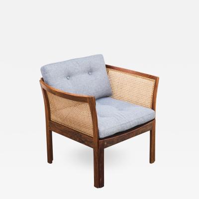 Illum Wikkels Danish Modern Plexus Rosewood Lounge Chair by Illum Wikkelso for CF Christensen