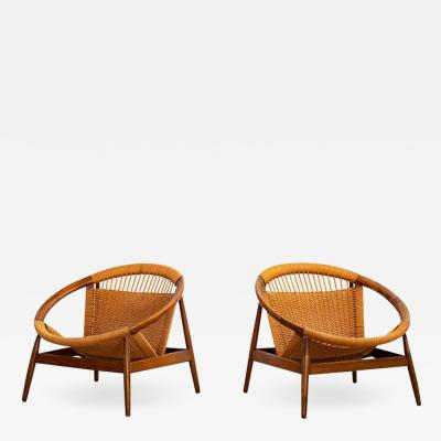 Illum Wikkels ILLUM WIKKELSO RINGSTOL LOUNGE CHAIRS