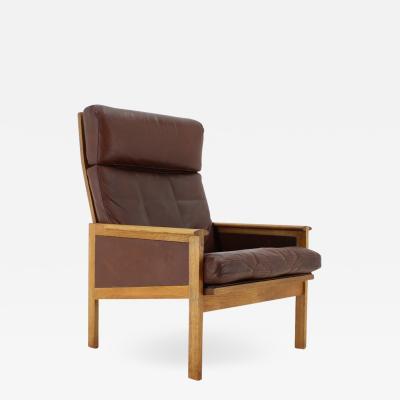 Illum Wikkels Illum Wikkels Capella Leather High Back Lounge Chair For Eilersen 1970s