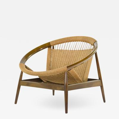 Illum Wikkels Illum Wikkelso Ringstol Number 23 Teak Woven Cord Ring Chair